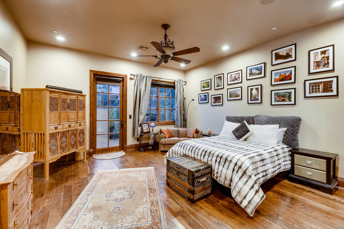 One of five bedrooms in the main house. (The Crampton Team)