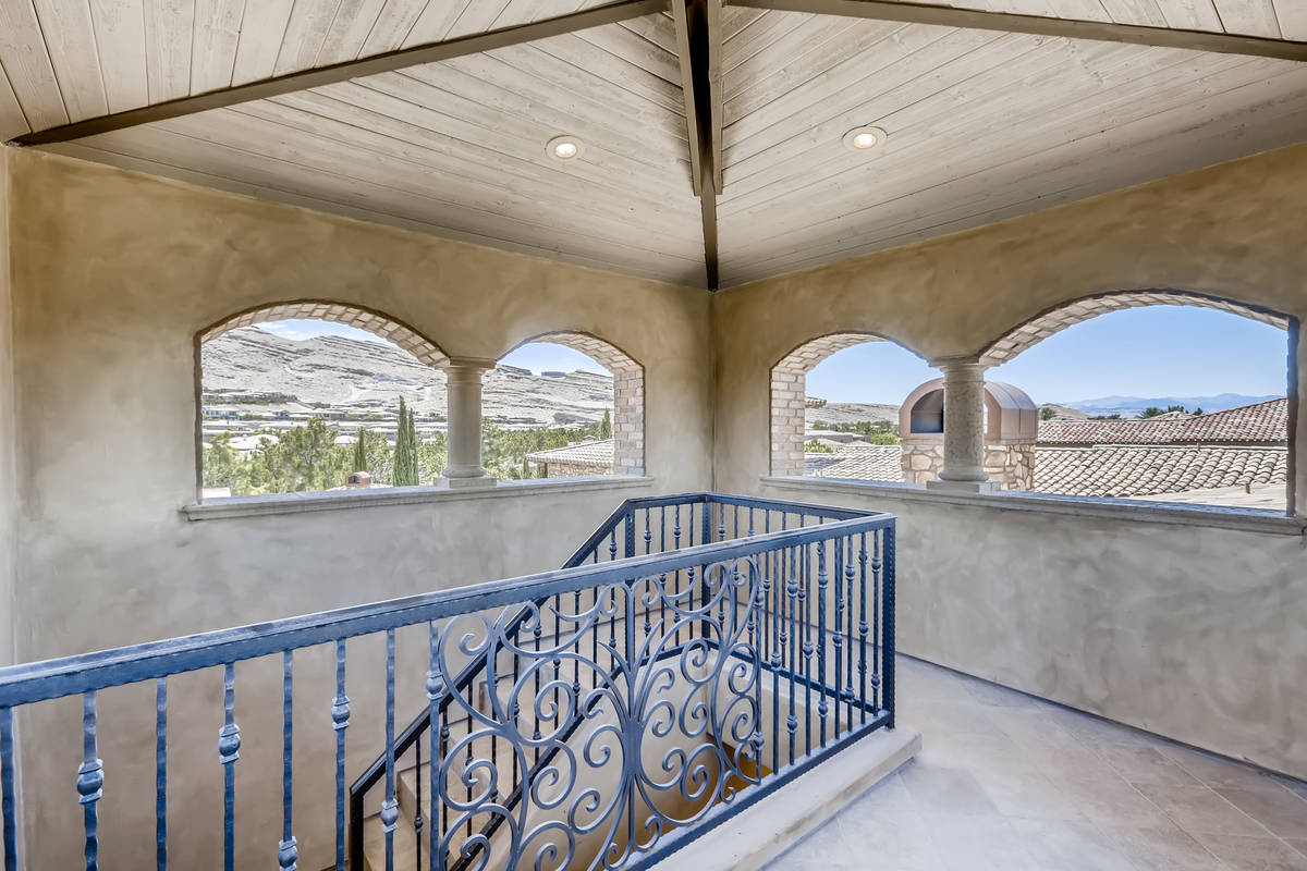 This Southern Highlands home has an enclosed observation tower that has sweeping views of the L ...