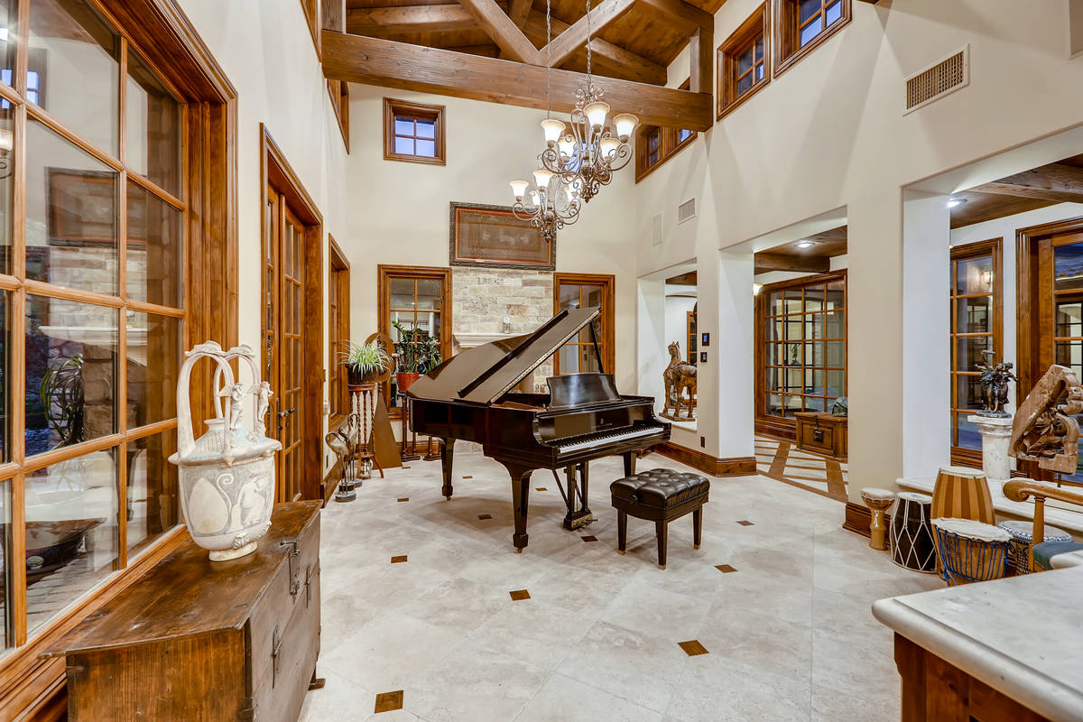 The homeowners of the house at Olympia Hills Circle has turned one of the rooms into a music ro ...