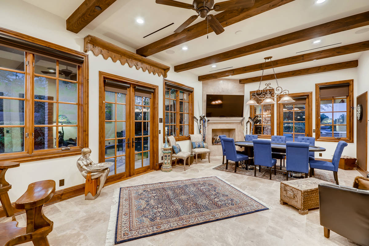 The home has a large game room on the first floor. It has a full bar and plenty of room for a p ...