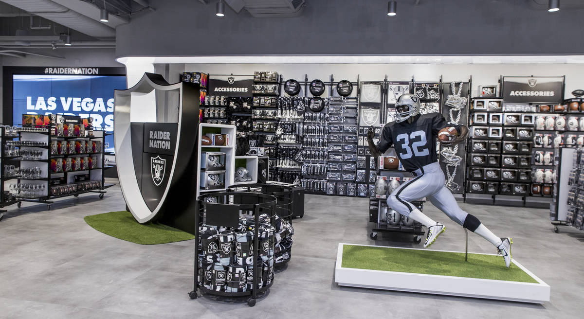 A variety of merchandise can be purchased at The Raider Image official team store inside of All ...