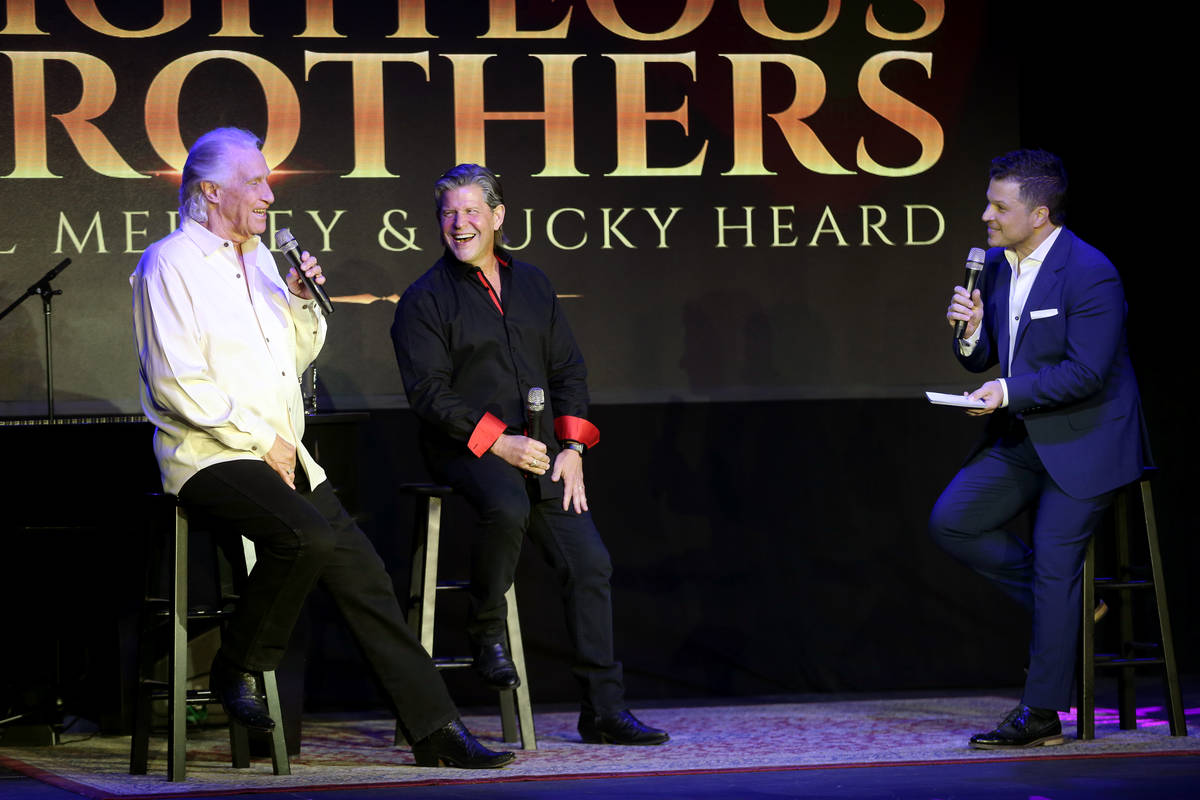 Bill Medley, from left, and Bucky Heard of the Righteous Brothers participate during a new stre ...