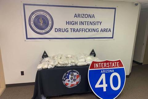 The Mohave County Sheriff's office found 89 pounds of methamphetamine hidden inside a car. (Moh ...