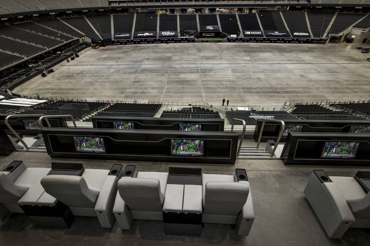 Suites at Allegiant Stadium feature xcellent viewing areas on Friday, Sept. 18, 2020, in Las Ve ...