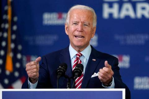 Former Vice President Joe Biden speaks during a roundtable discussion with veterans Tuesday, Se ...