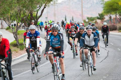 Cyclists ride in Tour de Summerlin. (Las Vegas Review-Journal)