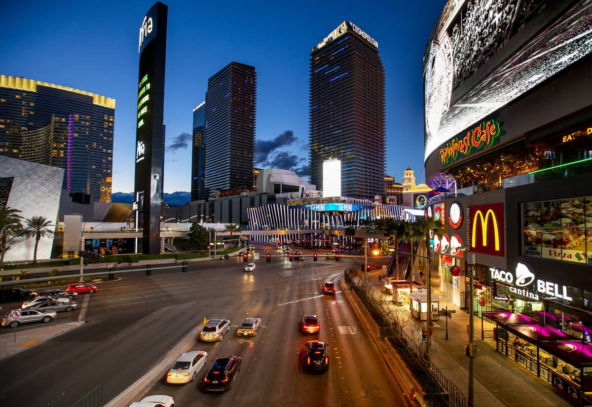 The Cosmopolitan of Las Vegas in March 2020. The casino-hotel topped reported locations of poss ...