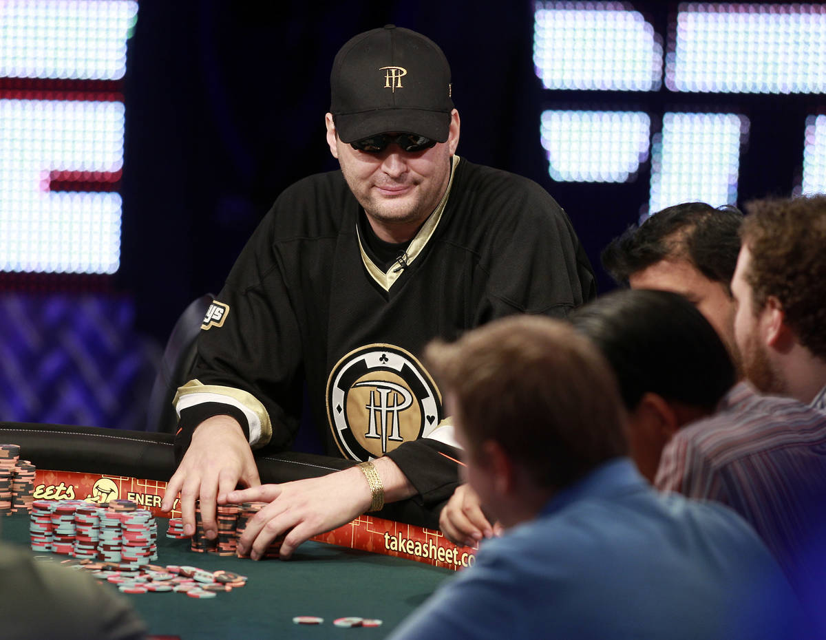 Phil Hellmuth plays a hand in the Poker Players Championship tournament during the 42nd annual ...