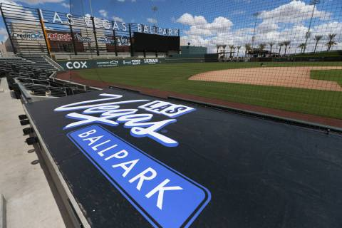 Las Vegas Ballpark in Las Vegas, Thursday, April 9, 2020. (Erik Verduzco/Las Vegas Review-Journ ...