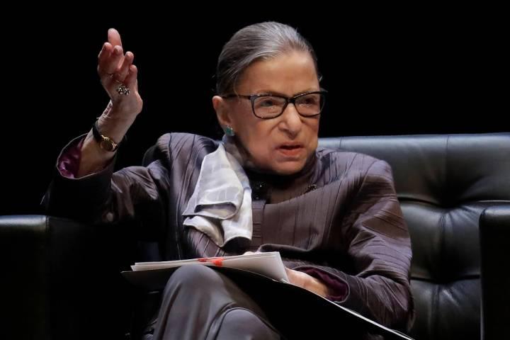 Justice Ruth Bader Ginsburg. (AP Photo/Jeff Chiu, File)