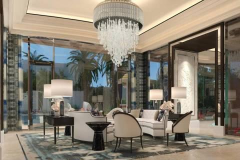 A rendering of a Crockfords Las Vegas suite inside Resorts World Las Vegas. (Resorts World)