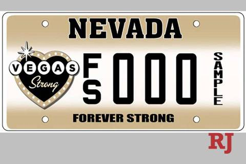 """Sales of the """"Forever Strong"""" specialty license plate benefit the Vegas Strong Resiliency C ..."""