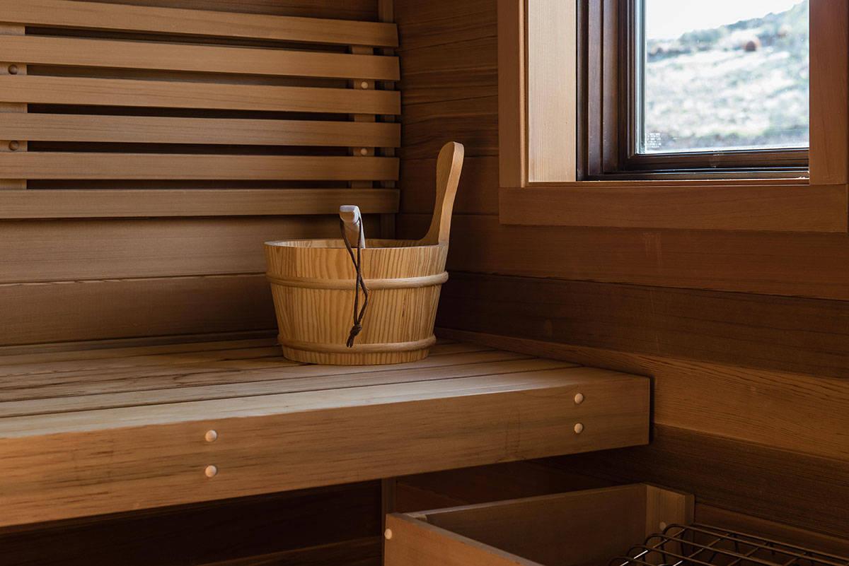 The dry sauna. (Simply Vegas)