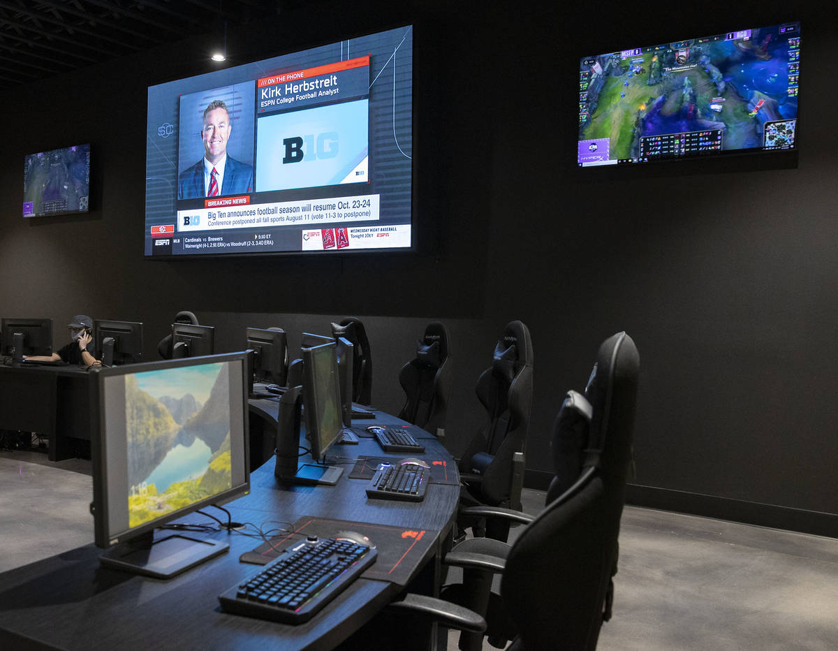A 4,500-sqaure-foot space for esports tournaments and casual gaming at the Tuscan Highlands apa ...