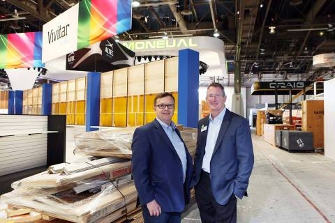 Jeff Chase, left, Freeman vice president of sustainability, and Steve Anderson, Freeman executi ...