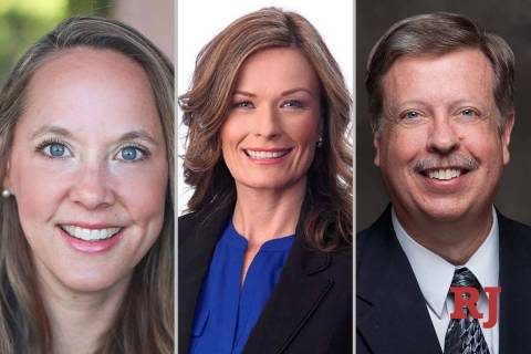 Kristee Watson, left, Carrie Buck and Tim Hagan, candidates for Nevada ...