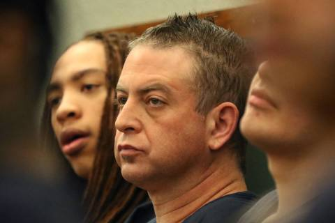Christopher Prestipino, center, charged in the slaying of Esmeralda Gonzalez, appears in court ...