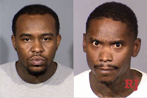 Jimmie Newson, left, and Thirlon Newman, right. (LVMPD)