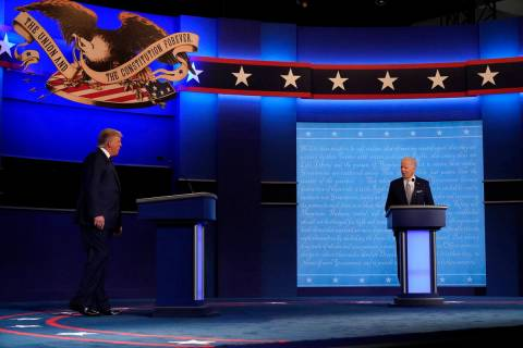 President Donald Trump, left, and Democratic presidential candidate former Vice President Joe B ...