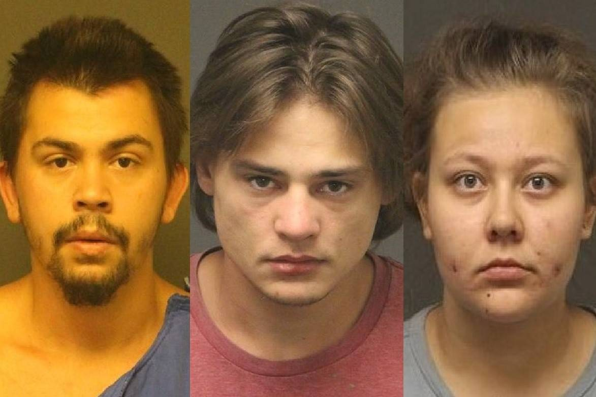 From left, Dustyn Wade Walsh, Johnny Ford Parsons and Tyler Susanne Reed (Mohave County Sheriff ...