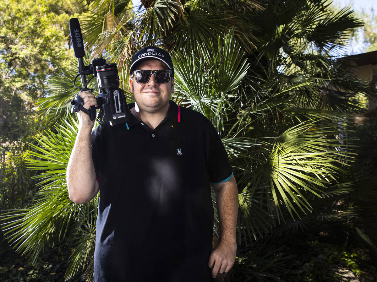 Las Vegas filmmaker Zachary Capp poses for a portrait at his home in Las Vegas on Tuesday, Sept ...