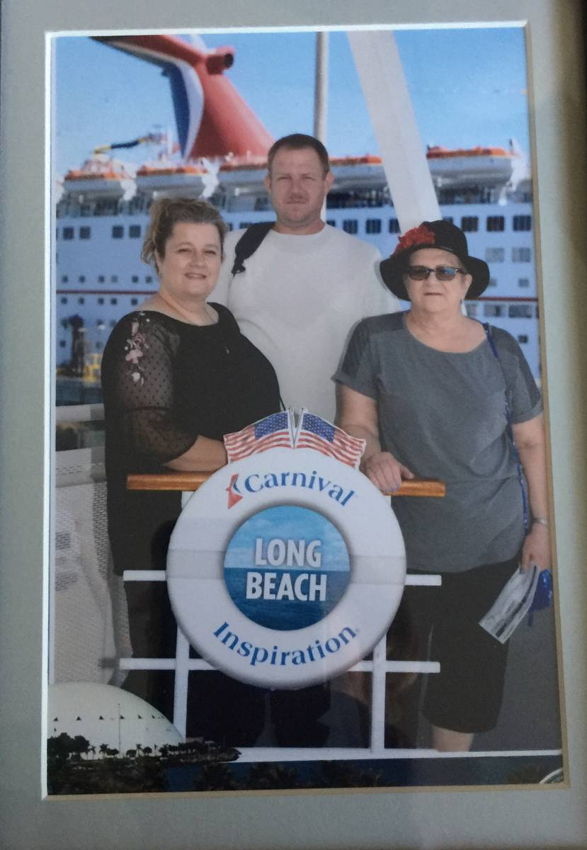 Melinda Christoforo, right, poses before taking a cruise with her daughter, Tammy, and son, Mic ...