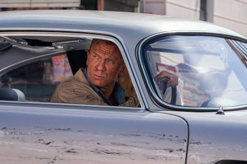 James Bond (Daniel Craig) and Dr. Madeleine Swann (Léa Seydoux) drive through Matera, Italy in ...
