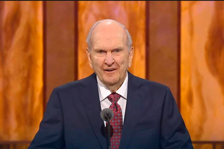 In this Saturday, Oct. 3, 2020, video image streamed by The Salt Lake Temple of The Church of J ...