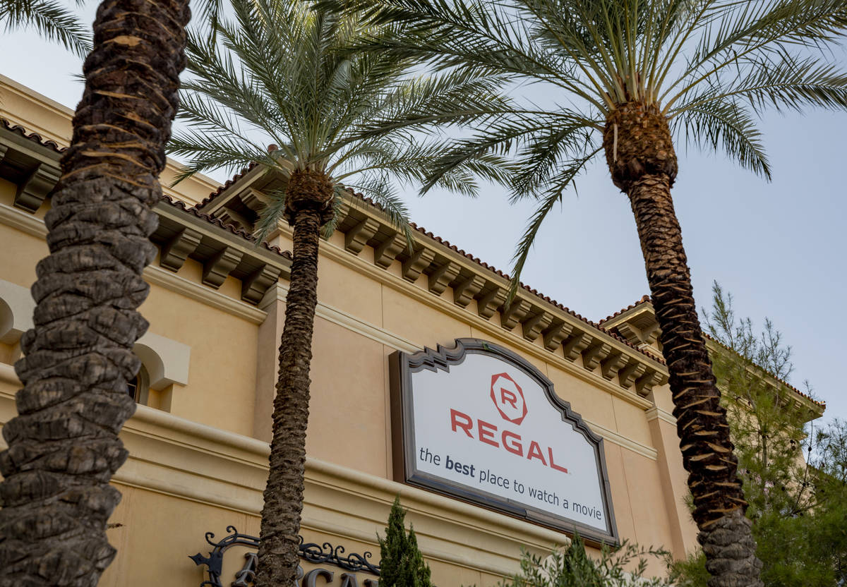 Regal Cinema 10 located in Green Valley Ranch is seen in Henderson on Sunday, Oct. 4, 2020. (El ...