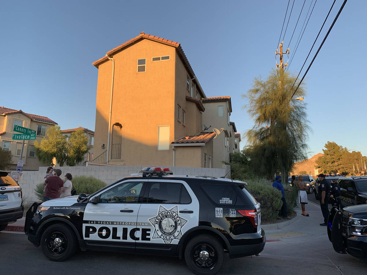 Las Vegas homicide detectives investigate a fatal shooting that left at least one person dead i ...