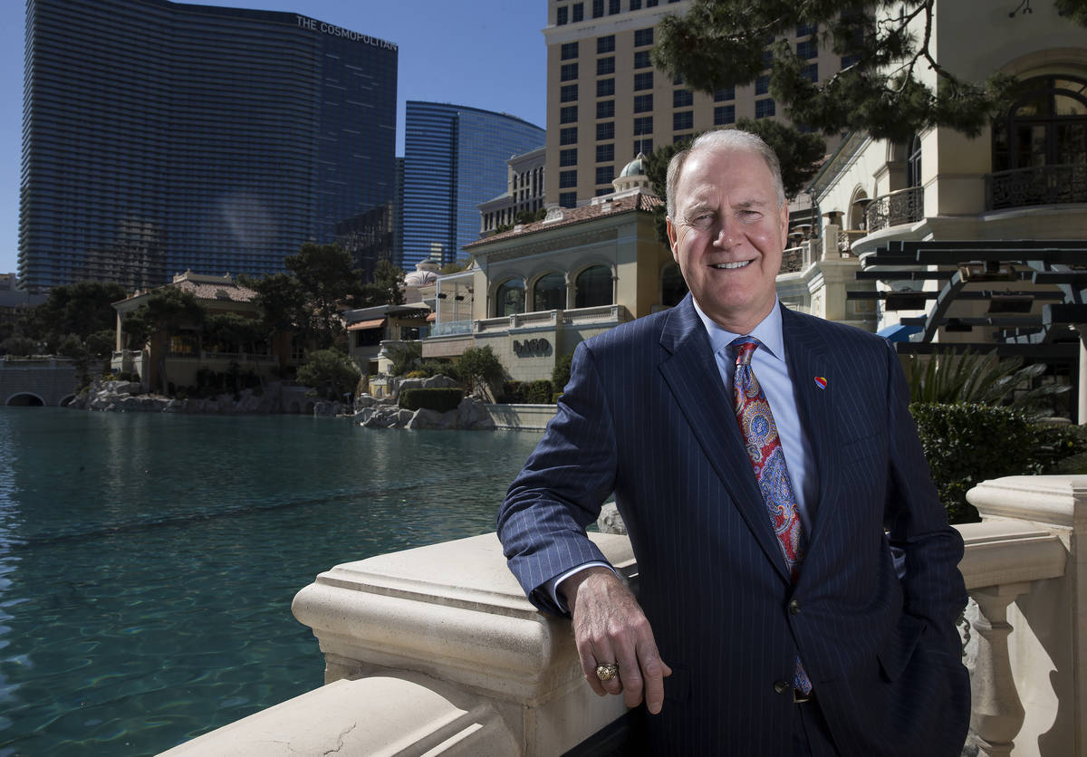 Southwest Airlines CEO Gary Kelly at the Bellagio hotel-casino in Las Vegas, Tuesday, Feb. 20, ...