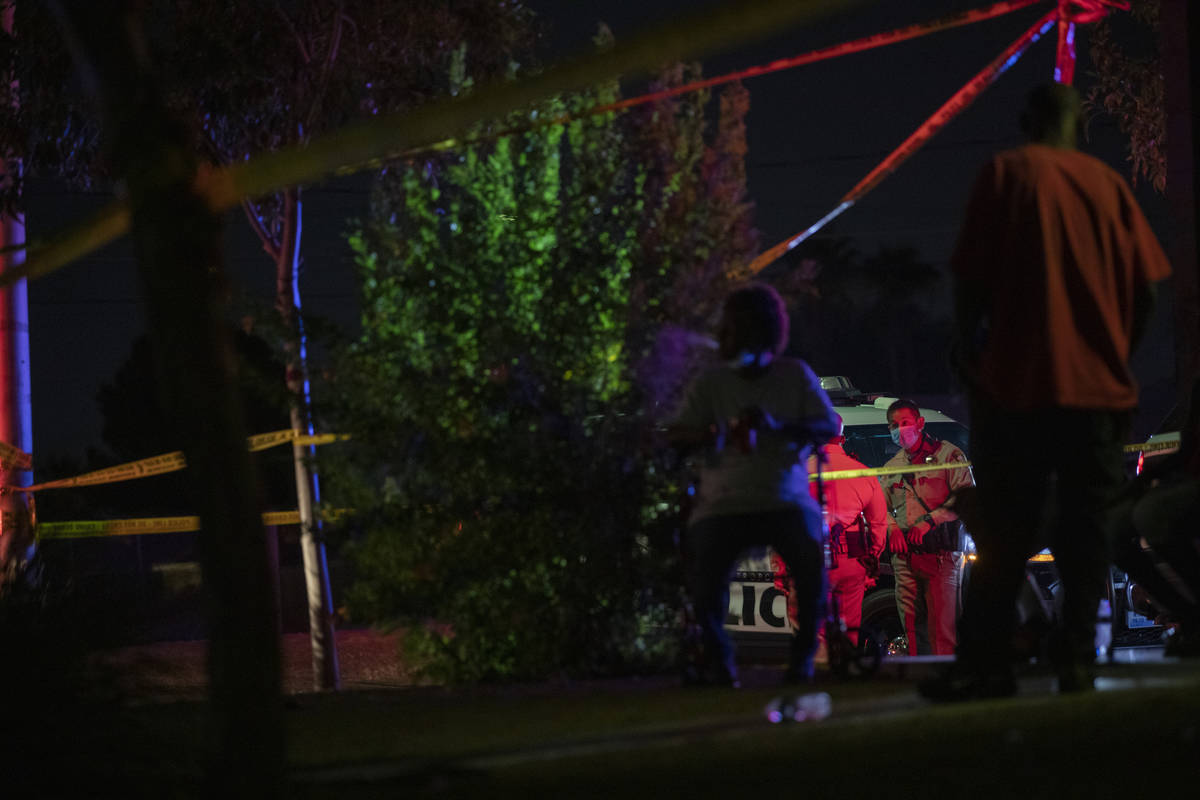 Police investigate the discovery of a dead child Monday, Oct. 5, 2020, on the 1700 block of H S ...