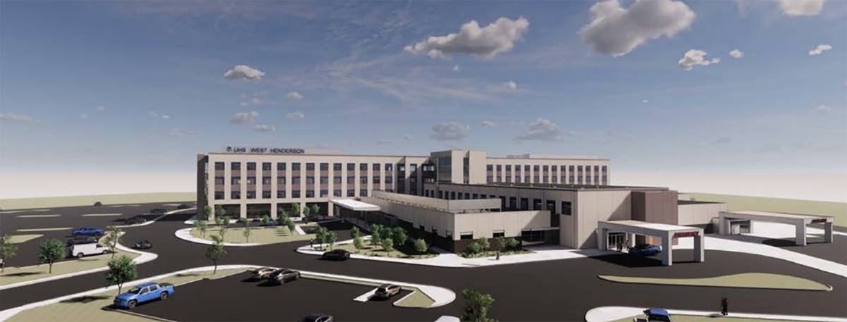 Universal Health Services plans to build a hospital, a rendering of which is seen here, as part ...