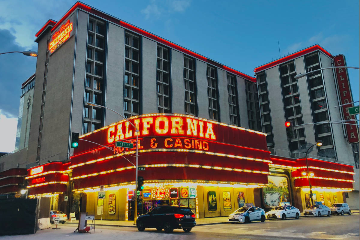 The California hotel-casino in Las Vegas, operated by Boyd Gaming Corp., on Saturday March 14, ...