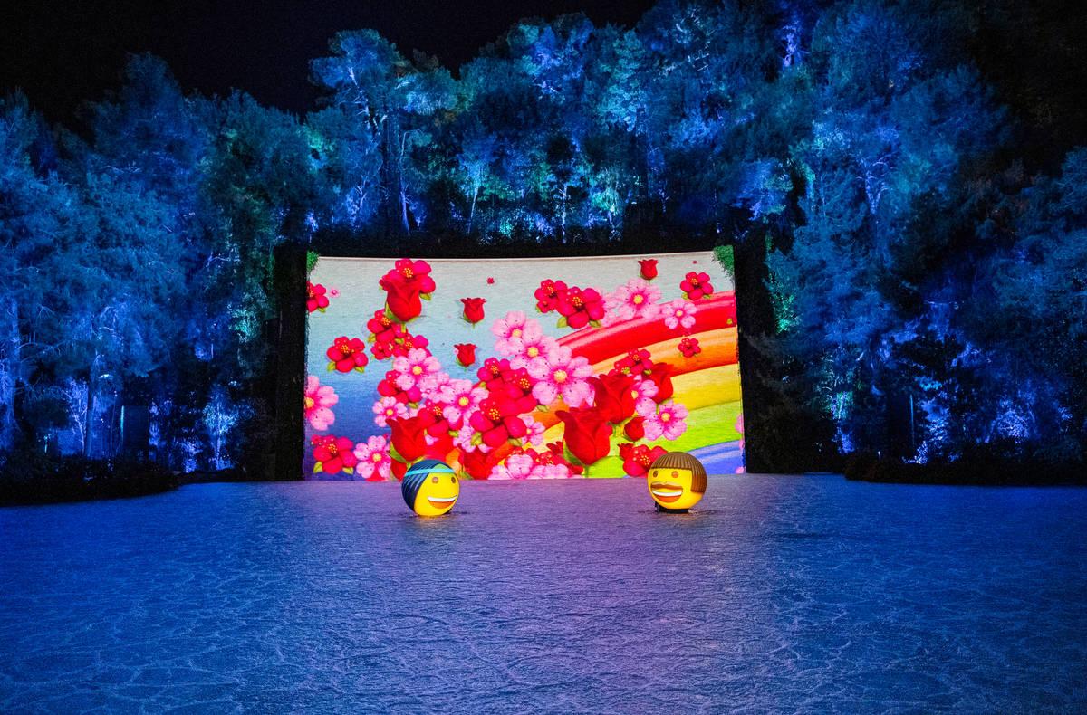 The Emoji Orbs are shown at Lake of Dreams at Wynn Las Vegas (Eric Jamison)