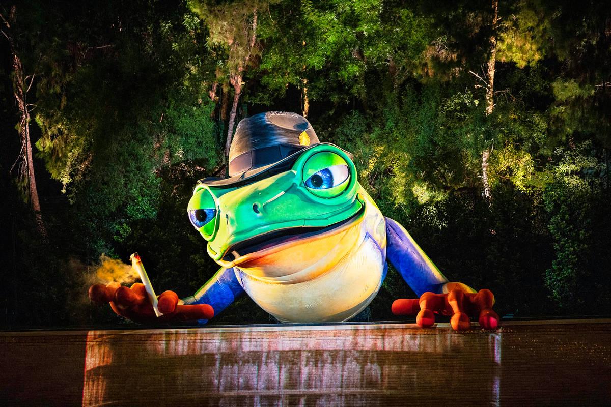 Singing Frog is shown at Lake of Dreams at Wynn Las Vegas (Eric Jamison)