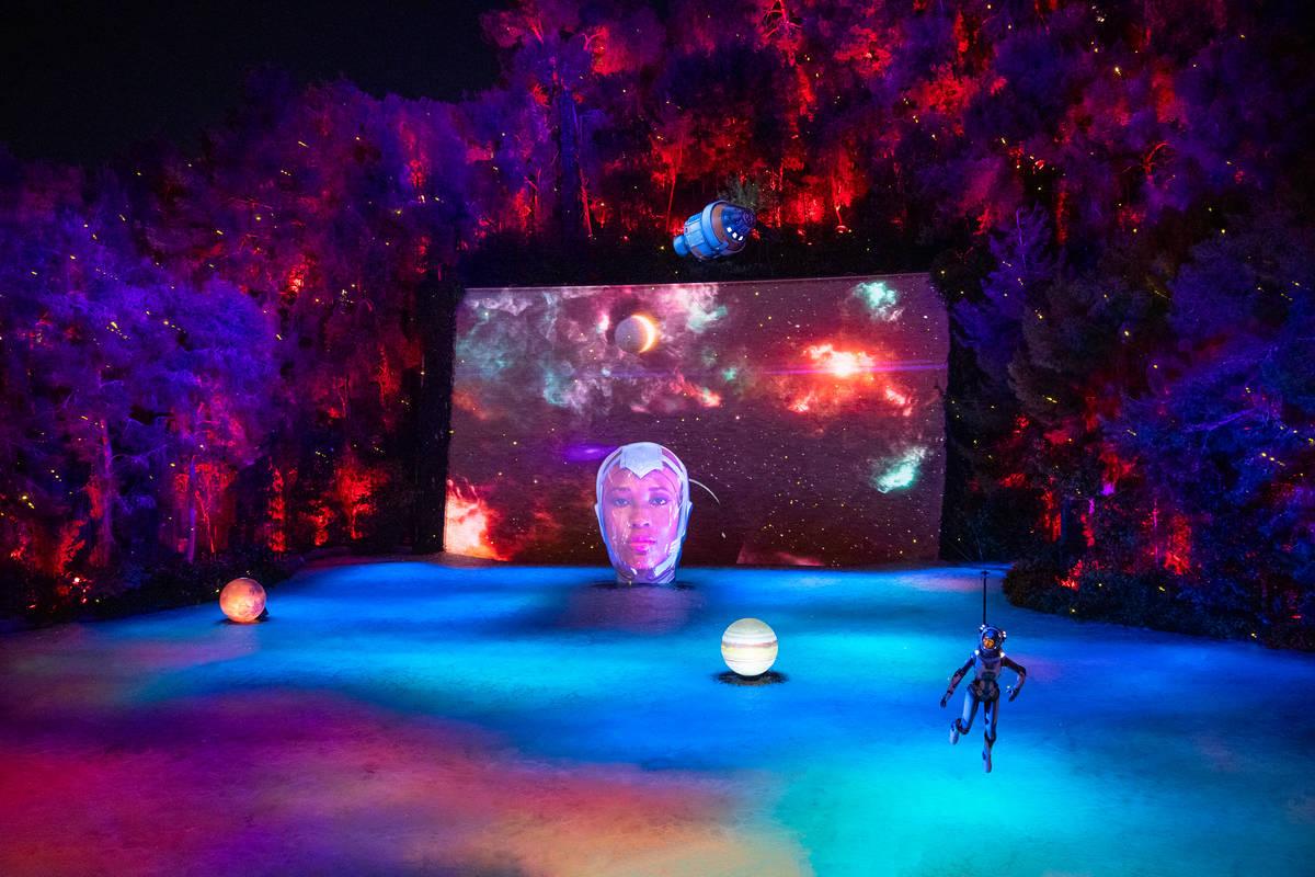 "The ""Space Oddity"" scene is shown at Lake of Dreams at Wynn Las Vegas (Wynn Las Vegas)"