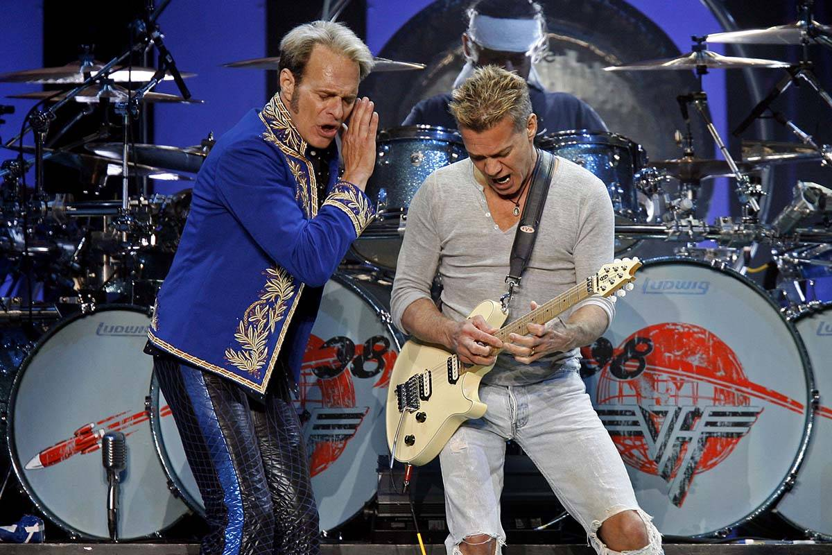David Lee Roth, left, and Eddie Van Halen perform at Madison Square Garden on May 23, 2008 in N ...