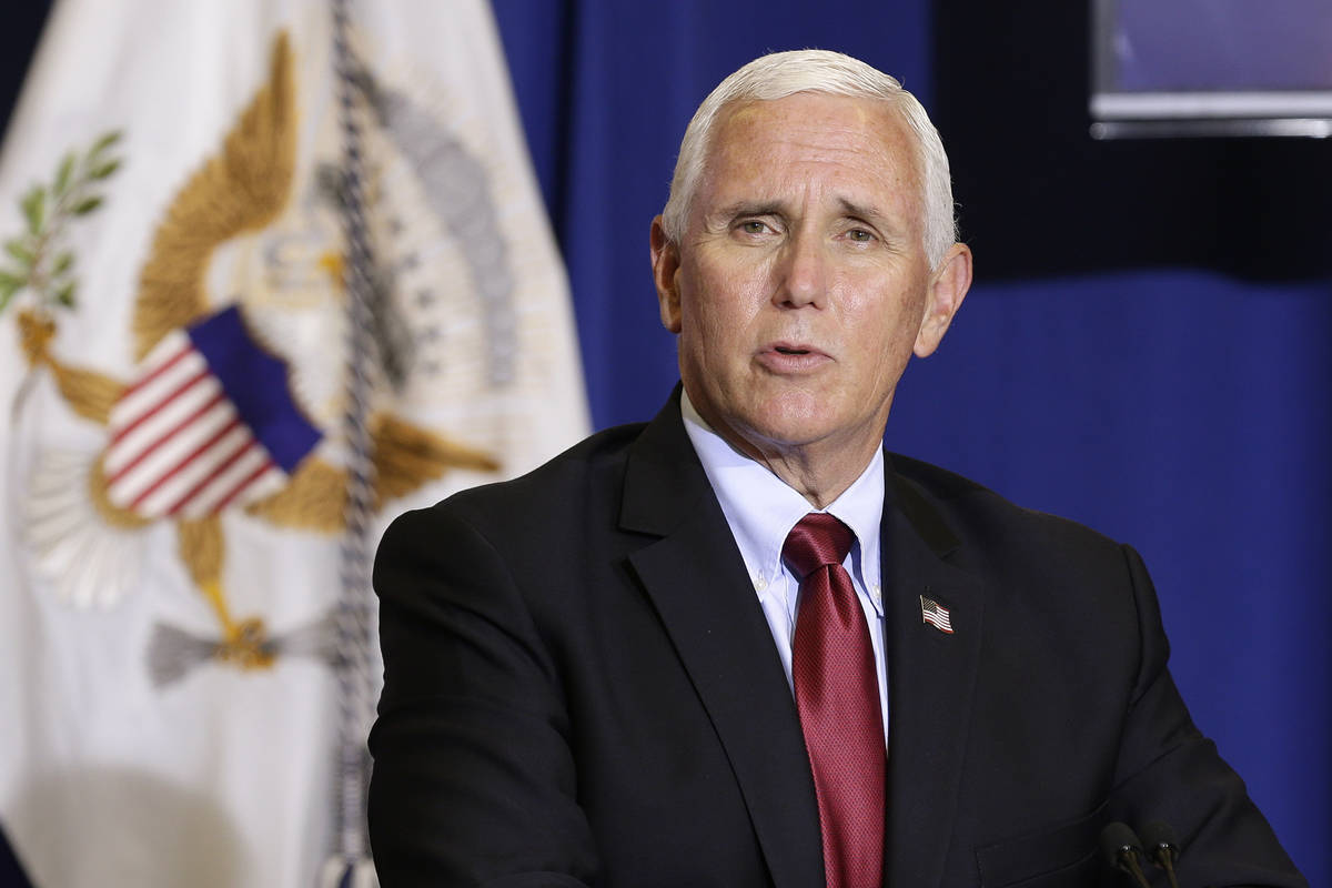 Vice President Mike Pence makes comments during a roundtable discussion at NC Biotechnology Cen ...