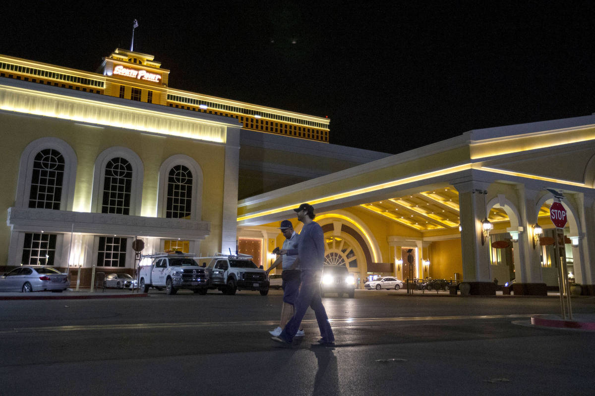 South Point on Monday, Oct. 5, 2020, in Las Vegas. The hotel, casino and spa, owned by Gaughan ...