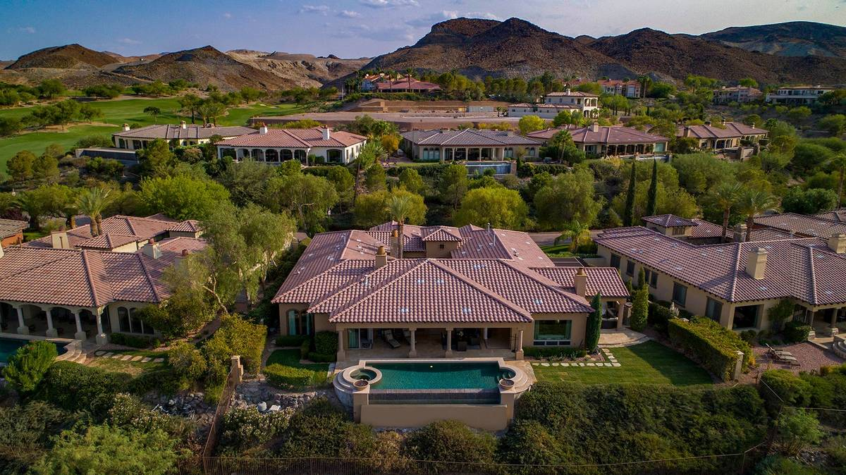 This Lake Las Vegas home is listed for $2.45 million. (Synergy Sotheby's International Realty)