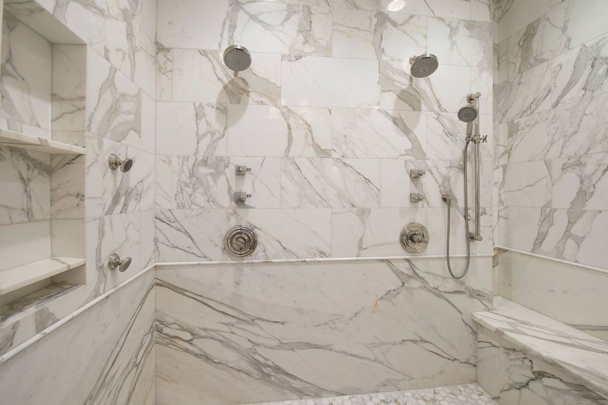 The shower in the master bath. (Synergy Sotheby's International Realty)