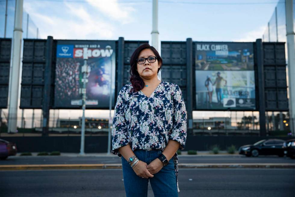 Ciara Williams is one of four former Topgolf Las Vegas kitchen employees who have come forward ...