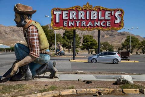 Entrance to the Terrible's Hotel & Casino remained temporarily closed on Friday, Sept. 4, 2020, ...