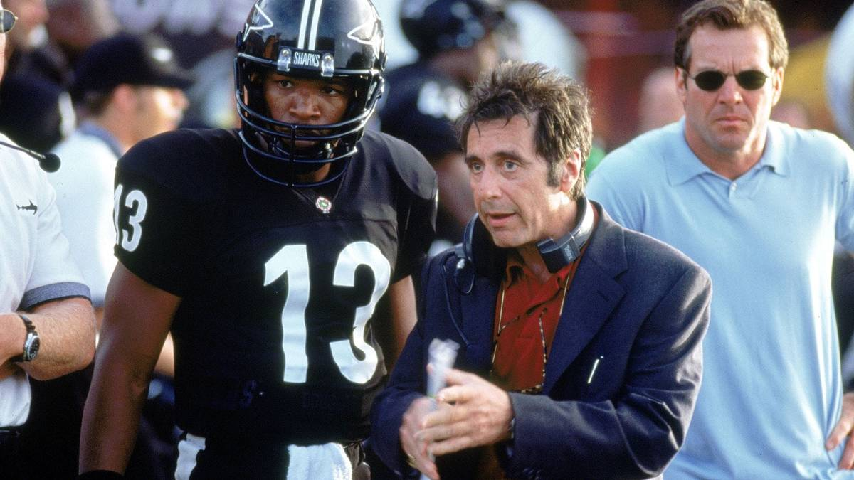 "From left, Jamie Foxx, Al Pacino and Dennis Quaid star in ""Any Given Sunday."" (Warner Bros.)"