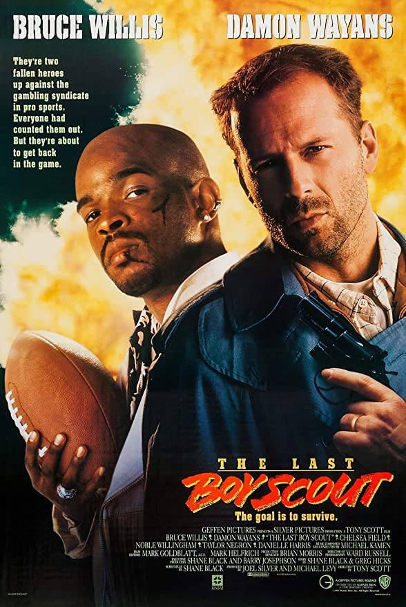 A detective (Bruce Willis) and former quarterback (Damon Wayans) investigate the owner of the L ...