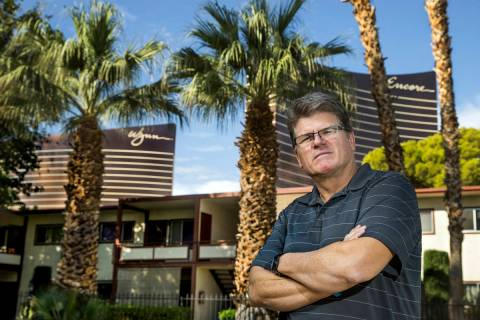 Michael Finn, a former Wynn production manager, was furloughed because of the pandemic and spen ...