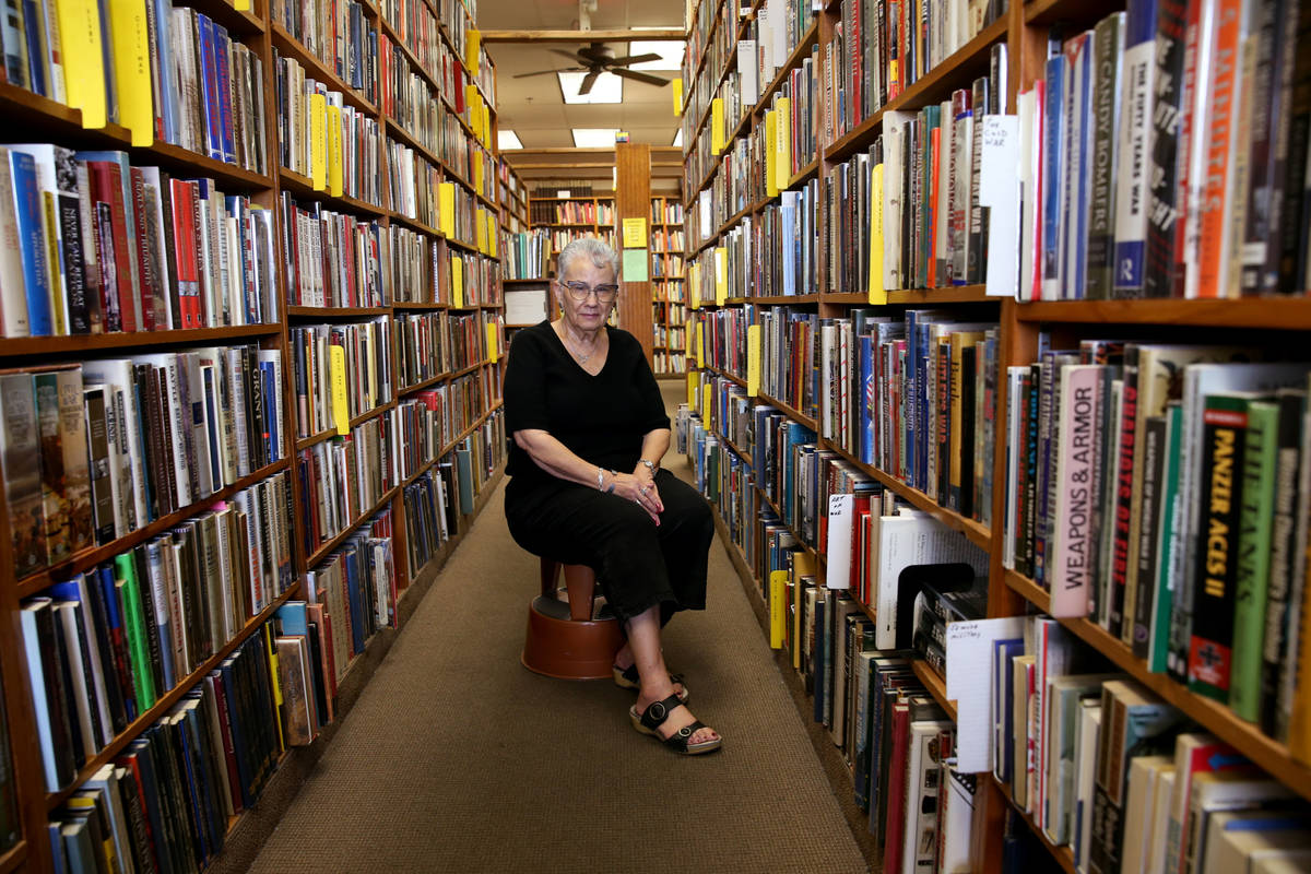 Myrna Donato, owner of Amber Unicorn Books, shown in 2019, is closing her store in late Novembe ...