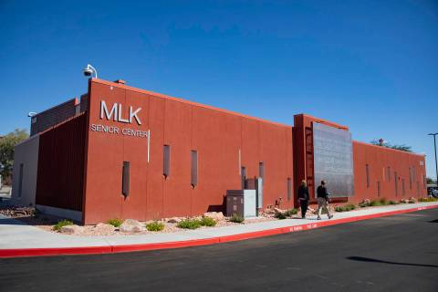 The newly expanded and renovated Martin Luther King Jr. Senior Center in North Las Vegas, Monda ...