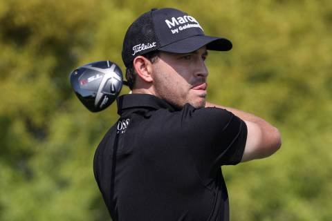 Patrick Cantlay tees off at the first hole during round three of the 2020 Shriners Hospitals fo ...